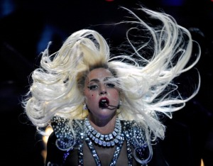 Singer Lady Gaga performs at the iHeartRadio Music Festival (Photo by Ethan Miller/Getty Images for Clear Channel)
