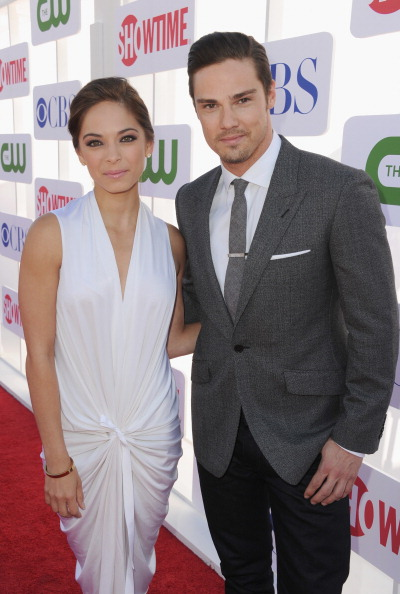 BEVERLY HILLS, CA - JULY 29:  Actors Kristin Kreuk (L) and Jay Ryan arrive at the CW, CBS And Showtime 2012 Summer TCA party held at The Beverly Hilton Hotel on July 29, 2012 in Beverly Hills, California.  (Photo by Kevin Winter/Getty Images)