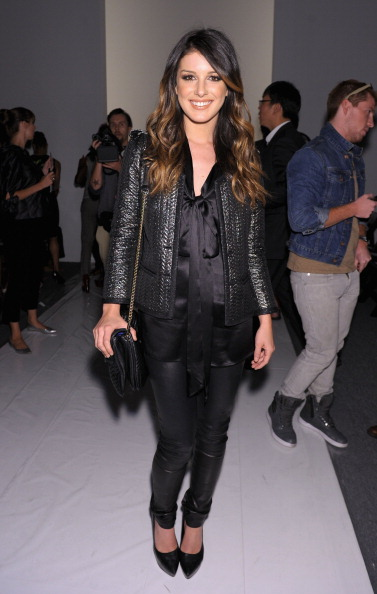 NEW YORK, NY - SEPTEMBER 09:  Actress Shenae Grimes attends the Tracy Reese Spring 2013 fashion show during Mercedes-Benz Fashion Week at The Studio at Lincoln Center on September 9, 2012 in New York City.  (Photo by Michael Loccisano/Getty Images for Mercedes-Benz Fashion Week)