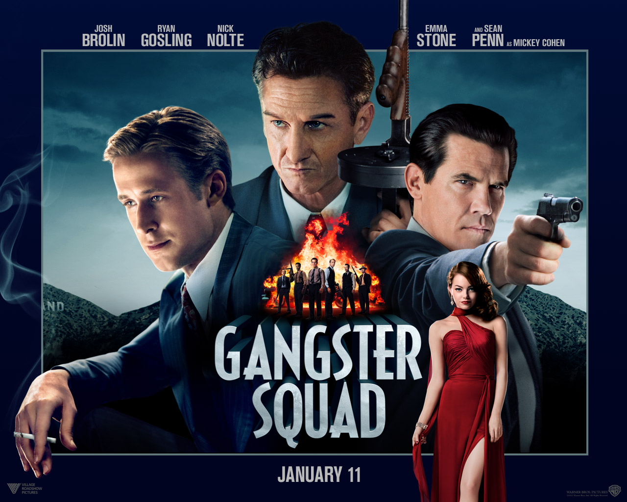 Movie Review: 'Gangster Squad' Goes To War Over The Soul Of L.A. ...