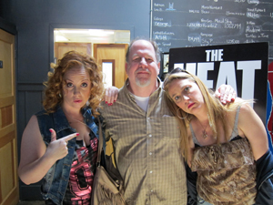 Jessica Chaffin (Gina Mullins) and Jamie Denbo (Beth Mullins) with Mike McKinney Photo by Cindy Stotlz