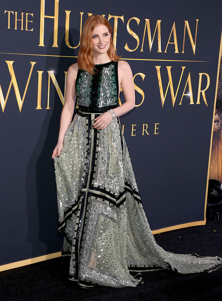 Jessica Chastain, The Hunstman, Chastain red carpet styles