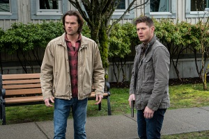 """Supernatural -- """"Don't Call Me Shurley"""" -- Image SN1120A_0117.jpg -- Pictured (L-R): Jared Padalecki as Sam and Jensen Ackles as Dean -- Photo: Liane Hentscher/The CW -- © 2016 The CW Network, LLC. All Rights Reserved"""