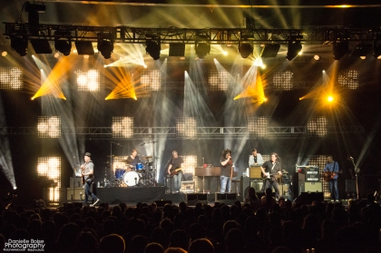 Counting Crows closing the night at Chastain Park Amphitheatre in Atlanta