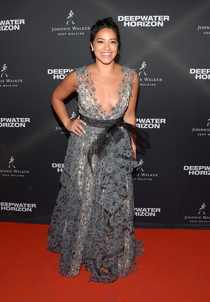 "TORONTO, ON - SEPTEMBER 13: Actress Gina Rodriguez attends the ""Deepwater Horizon"" premiere screening party presented by Johnnie Walker at The Addison Residence on September 13, 2016 in Toronto, Canada."