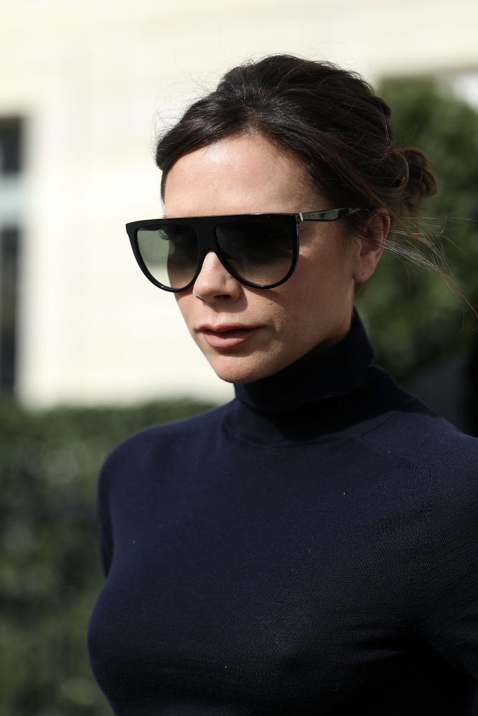 Victoria Beckham in Flat Top Visors - Paris