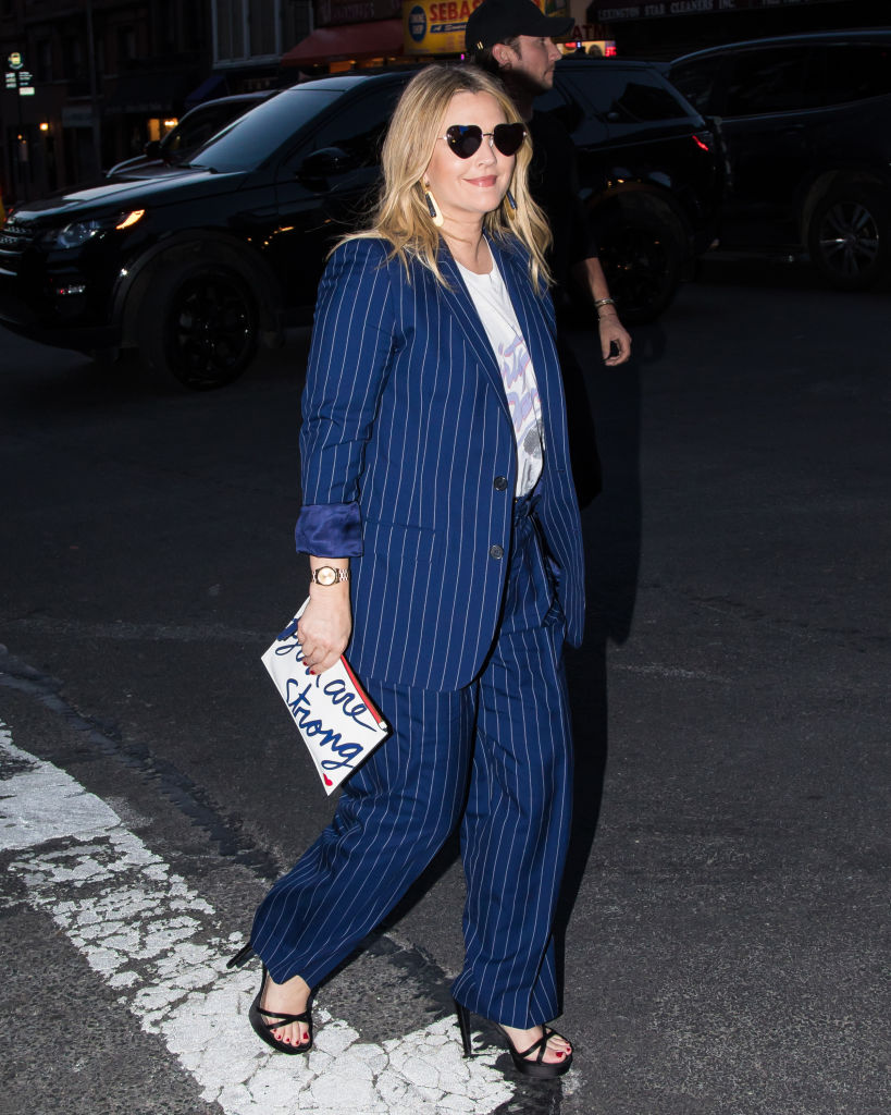 Celebrity Sightings in New York City - Drew Barrymore - Heart-Shaped Sunglasses