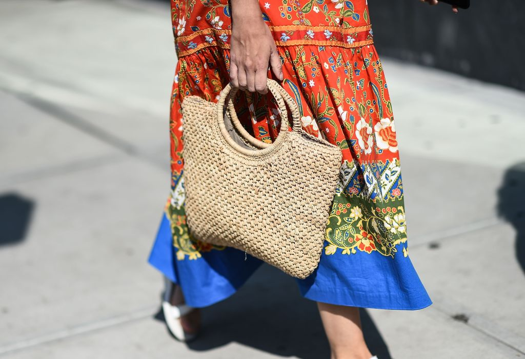 straw bags for spring - New York Fashion Week - Street Style